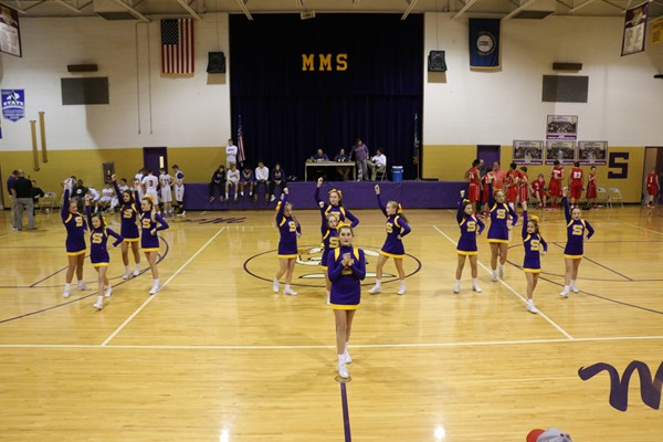 Cheerleaders @ basketball game