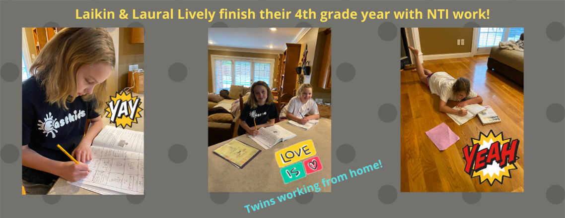 Laikin and Laurel finish 4th grade year!