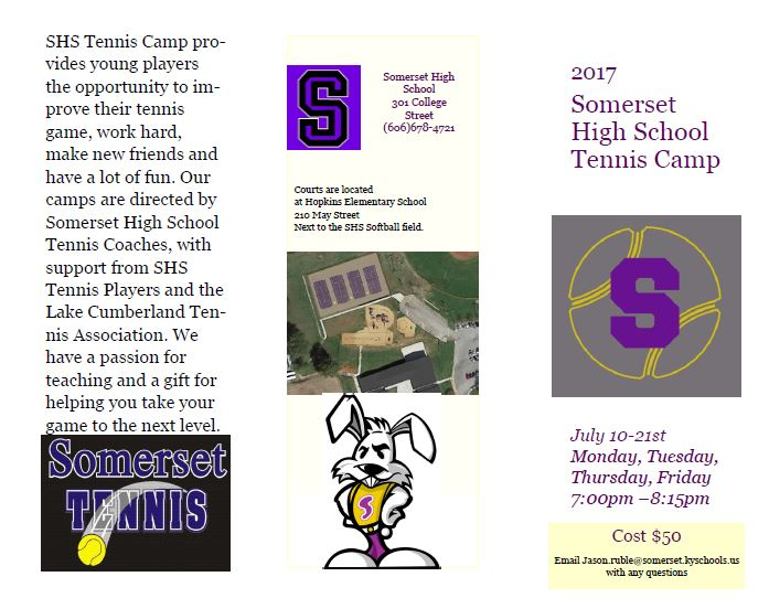 2017 Tennis Camp Brochure