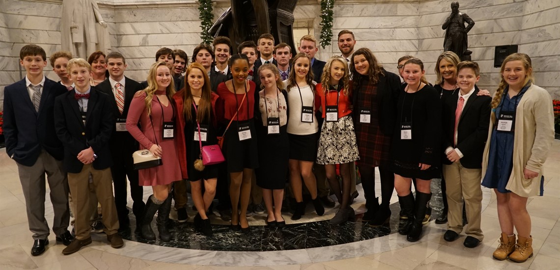MMS Students Visit State Capital During KYA Conference