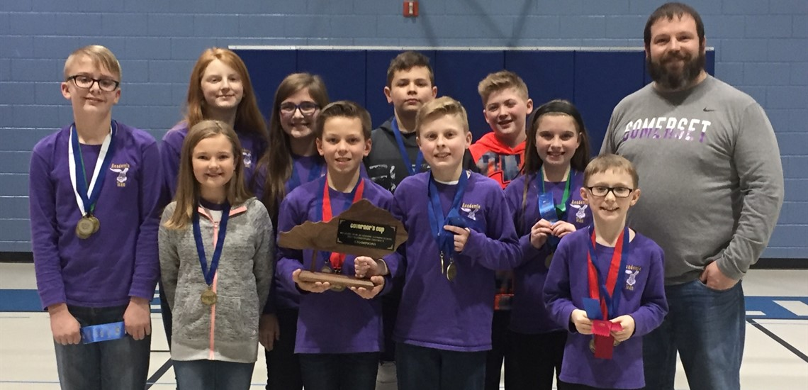 Elementary Academic Team Wins 1st Place at District Governor's Cup