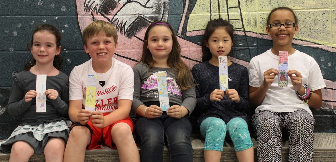 Winners of the Library Bookmark Challenge!