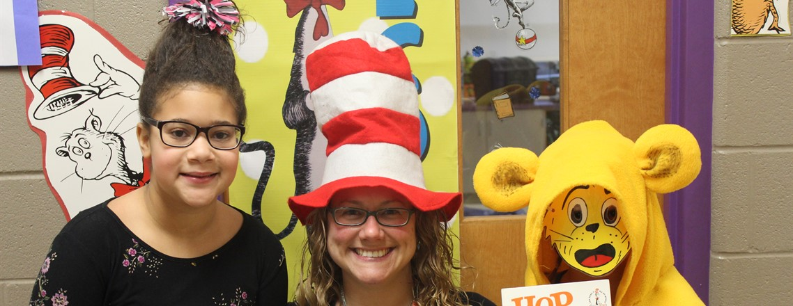 Staff and students love Dr. Seuss!