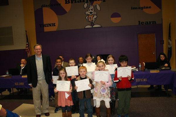 February Student Recognition at Board Meeting