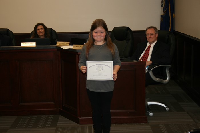 October Board Meeting Student Recognition